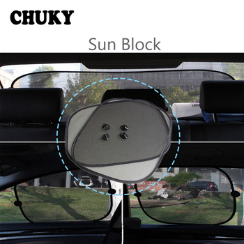 CHUKY Car Styling Sun Protection Net Sun Shade Cover For BMW E90 F30 F10 Audi A3 A6 C5 C6 Opel Insignia Alfa Romeo Ssangyong image