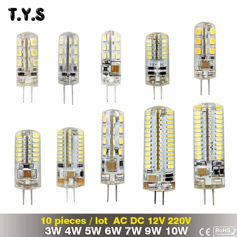 10 Pieces/Lot 220V G4 Bombillas LED Lights For Home Led G4 12v 3w 4w 5w 6w 7w 9w 10w Lamparas Led Light Bulb Lighting Spotlight лампочка ecola led premium g4 4w corn micro 2800k 220v g4kw40elc
