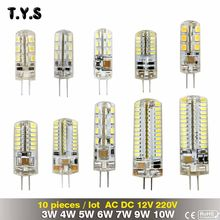 10 Pieces/Lot 220V G4 Bombillas LED Lights For Home Led G4 12v 3w 4w 5w 6w 7w 9w 10w Lamparas Led Light Bulb Lighting Spotlight(China)