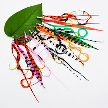 50PCS Copper Slide Parts Fishing Equipment Snapper Skirts and Rubber Tie Mule Maintenance Supplies