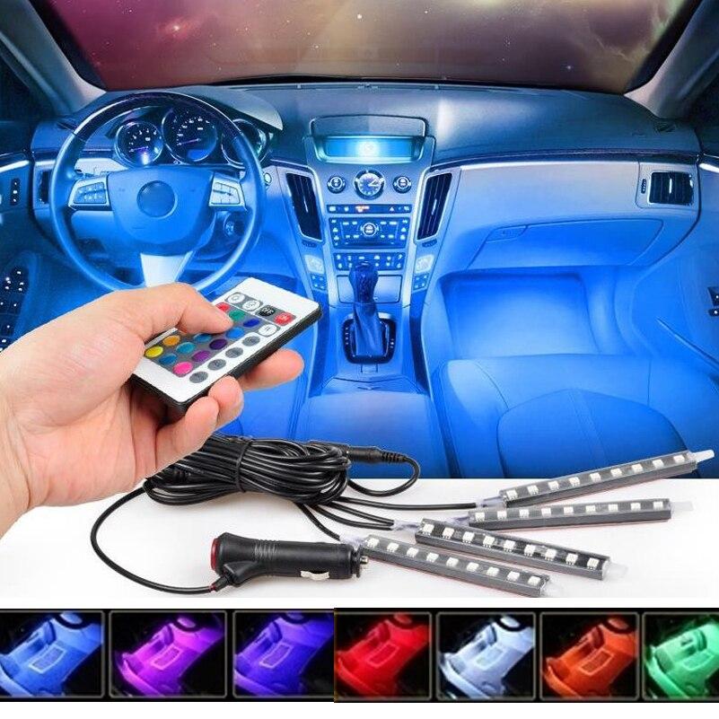 Multi Color Car Interior Light Decorative Atmosphere Lamps For Audi A3 A4 B6 B7 B8 A6 C5 A6 C5 A5 Q7 Q5 80 TT A1 Q3 100 S3 S4 S5 car led courtesy door projector light ghost shadow light for audi a1 a3 a4 a6 a5 a7 a8 80 tt q3 q5 q7 s line c5 c6 b5 b6 b7