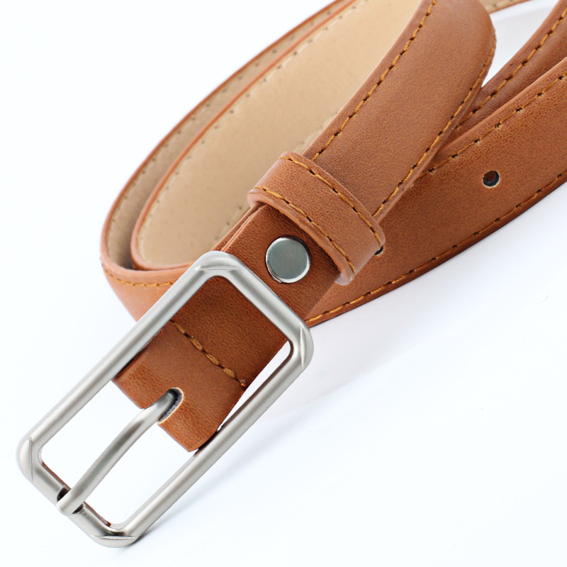 Elegant Women Belt Long Pin Buckle Fine Belt New Fashion Retro Candy Color Metal Buckle Decoration Belt Ceinture in Women 39 s Belts from Apparel Accessories
