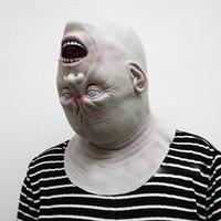 Новая маска для взрослых маска зомби латексная кровавая страшная инопланетянин дьявол полный костюм маска для лица вечерние косплей рекви...