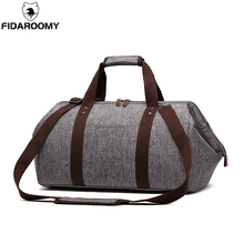 купить Canvas Men Travel Bags Carry on Luggage Bags Men Duffel Bags Travel Tote Large Weekend Bag Overnight 2018 дешево