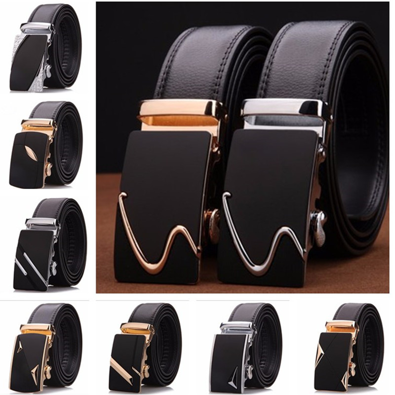Brand Customized 100 Genuine Leather Belts For Man Men S Automatic Buckle Belts Free Shipping Wholesale