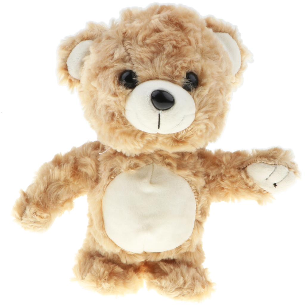 """8"""" Soft Plush Talking Walking Bear Doll, Repeats What You Say, Brown Color"""