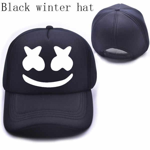 66245a5fe70 ... New Arrived marshmello face men baseball cap boy casual homme cap Black  White Hat Snapback Hat ...