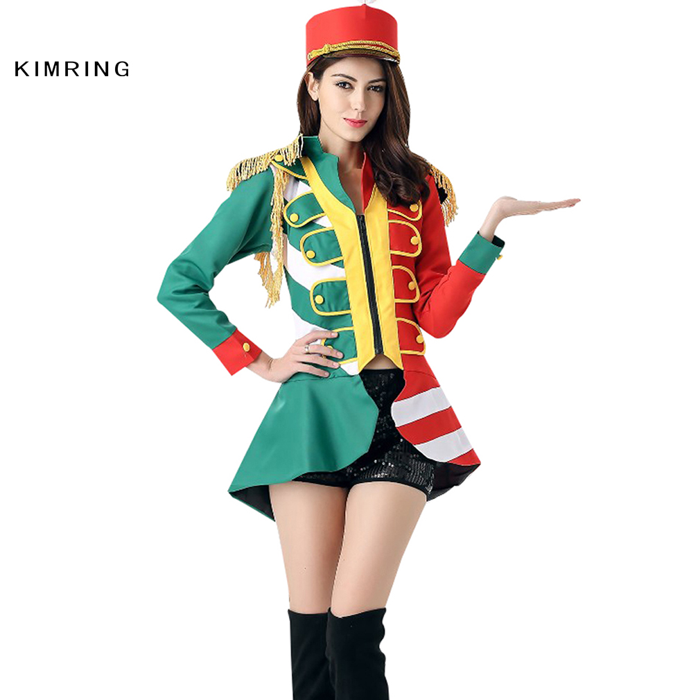 Kimring Fashion Majorette Costume Adult Women Soldier Heroine Fancy Dress Party Halloween Costume Cosplay on Aliexpress.com | Alibaba Group  sc 1 st  AliExpress.com & Kimring Fashion Majorette Costume Adult Women Soldier Heroine Fancy ...