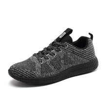 Onke Brand Light Sneakers New Flywire Running Shoes Breathable Mesh Men Shoes Man Gym Footwear Mens Running Shoes Male Sneakers