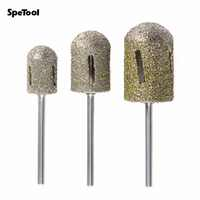 SpeTool Large Head Diamond Bit Rotary Bur For Foot Callus Clean Accessory Electric Manicure Pedicure Drill Machine Nail Art D36