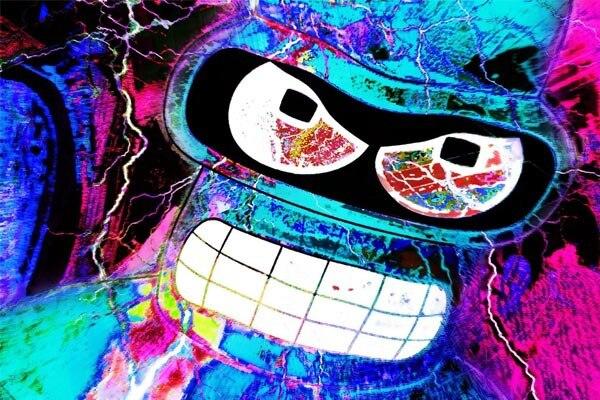 Christmas Gift Decoration For Bedding Living Room Posters Bender Rodriguez Cool Acid Big 50x75cm
