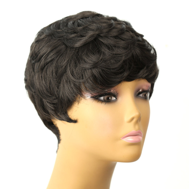 Amir Hair Heat Resistant  Wig Short Curly  Synthetic Hair Wig for Black Women Perruque Peruk Afircan American Wig cosplay