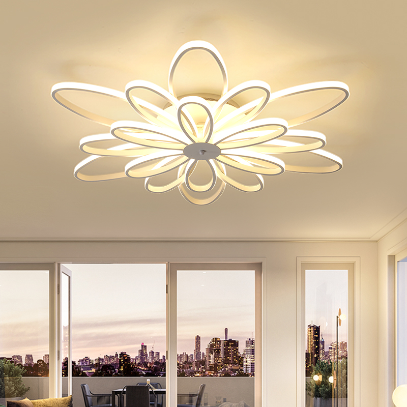 LED ceiling lights Creative living room lamp atmosphere Nordic modern minimalist personality led ceiling lamp bedroom lamp modern minimalist 9w led acrylic circular wall lights white living room bedroom bedside aisle creative ceiling lamp