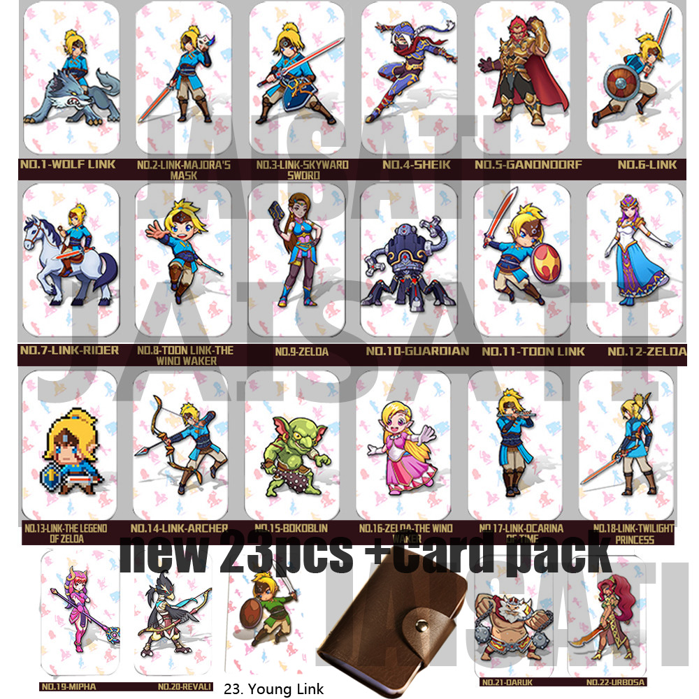 Newest 22 pcs NTAG215 Zelda NFC Card 20 Heart Wolf Revali Mipha