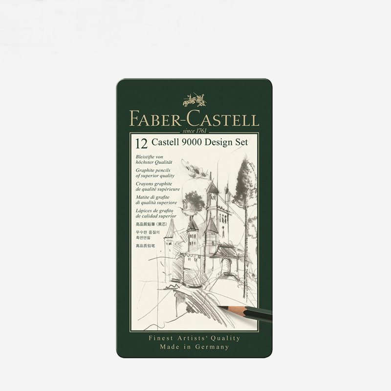 faber castell 12 castell 9000 119604 design set 119605 art set graphite pencil writing drawing. Black Bedroom Furniture Sets. Home Design Ideas