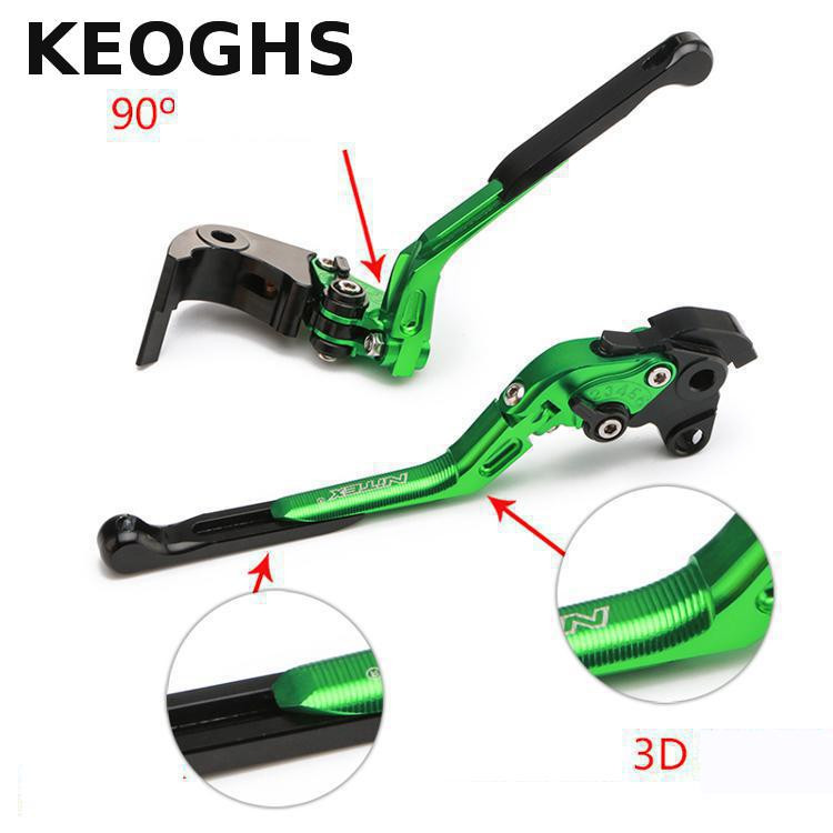 Keoghs High Quality Motorcycle Brake Clutch Levers 3d Cnc Aluminum Folding/extendable/adjustable 135mm-190mm For Honda Zxr750 keoghs real adelin 260mm floating brake disc high quality for yamaha scooter cygnus modify