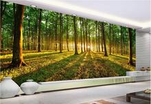 TV background wall mural wall paper Sunshine forest landscape 3d wallpaper mural decor Photo backdrop