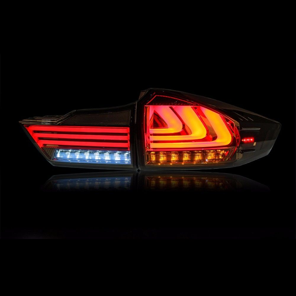 Car Accessories FOR Honda City 2014 2015 2016 Tail Lights LED Brake Rear Lamp Smoke Lens BMW Style