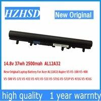 14.8 v 37wh 2500 mah Bateria Do Portátil Para Acer AL12A32 Original Novo AspireV5 V5-100 V5-400 V5-500 V5-171 V5-431 V5-471 V5-531 V5-571