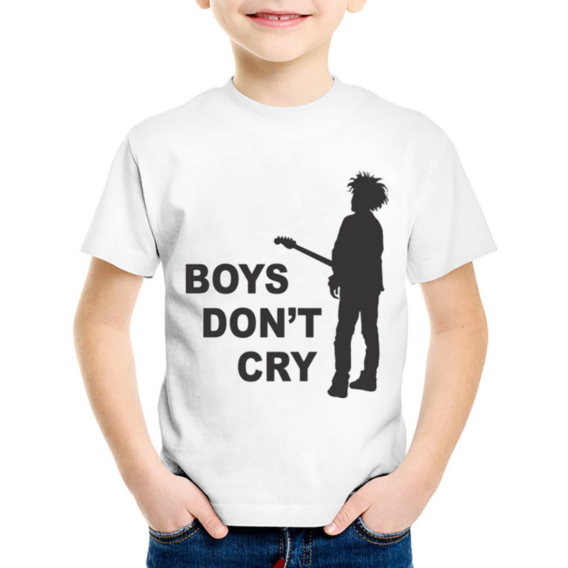 Fashion Print The Cure Boys Do Not Cry Children T-shirts Kids Rock Roll Summer Tees Boys/Girls Casual Tops Baby Clothing,ooo630