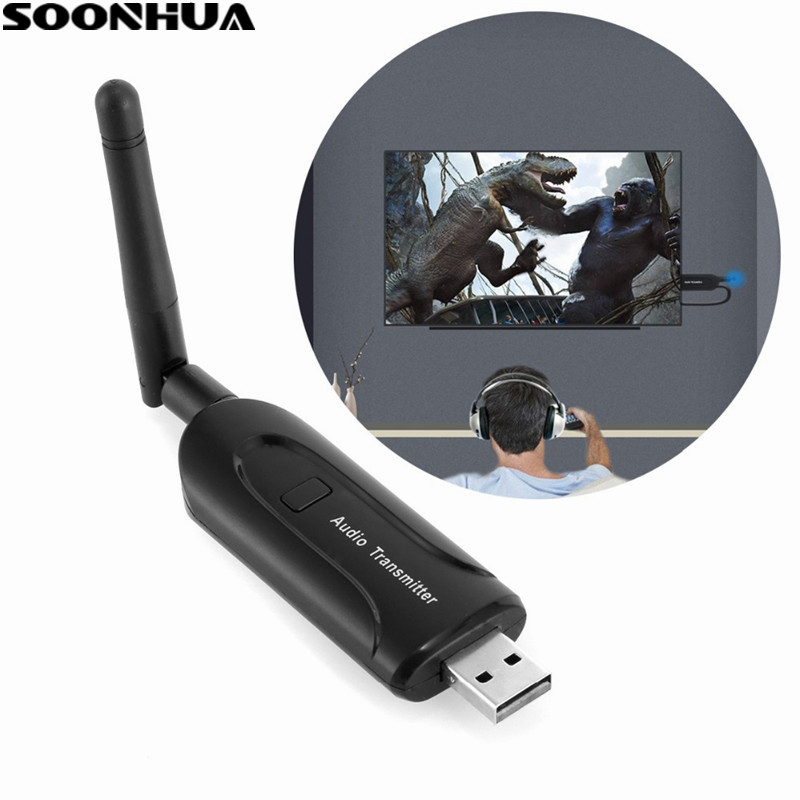 Wireless Protable Mini Bluetooth Audio Transmitter 3.5mm Music Stereo Dongle Adapter For Phone TV PC MP3 Laptop