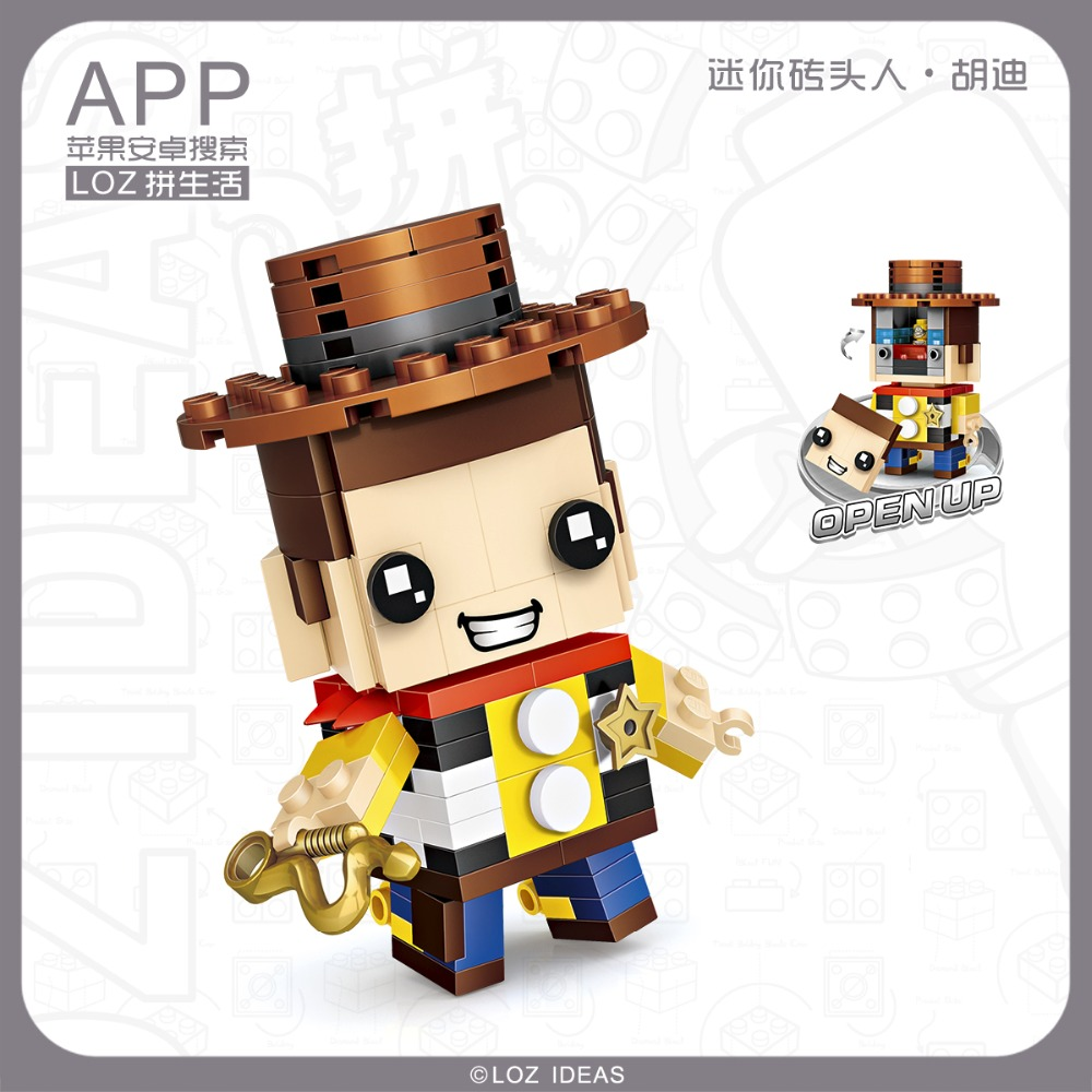 2pcs Cartoon Cowboy Heroes Building Blocks Bricks Figures Models Toys