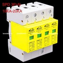 Comercio al por mayor protector contra sobretensiones SPD 3 P + N 10KW ~ 20KW Baja Tensión Pararrayos Dispositivo