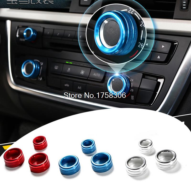 Air conditioning knob sound decoration stickerair conditioning adornment circle fit for BMW 1 2 3 4 5 6 7 series X1 X5 X6