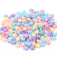 Spring Color Star Acrylic Loose Beads For Jewelry Making Diy Wholesale 10mm 100pcs
