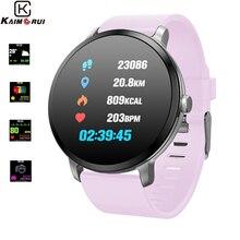 Купить с кэшбэком Fitness Tracker Heart Rate Pedometer Color Screen Fitness Bracelet Smart Watch Women Men Smart Wristband for Android IOS Phone