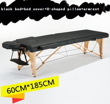 Portable Foldable Massage Table Bed Made Of Environmentally-Friendly PVC Leather