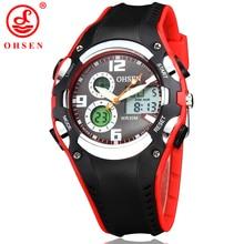 Nueva OHSEN Marca de Moda Reloj Digital de Los Deportes Relojes de Pulsera Para Niños Niños de Cuarzo Resistente Al Agua Reloj Reloj Del Relogio Banda de Goma