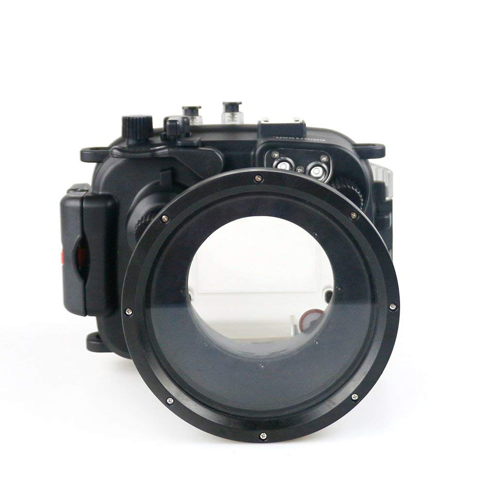Mekon 40M 130ft Underwater Mekon Waterproof Housing Underwater Case for Canon G1X II WP DC53 camera
