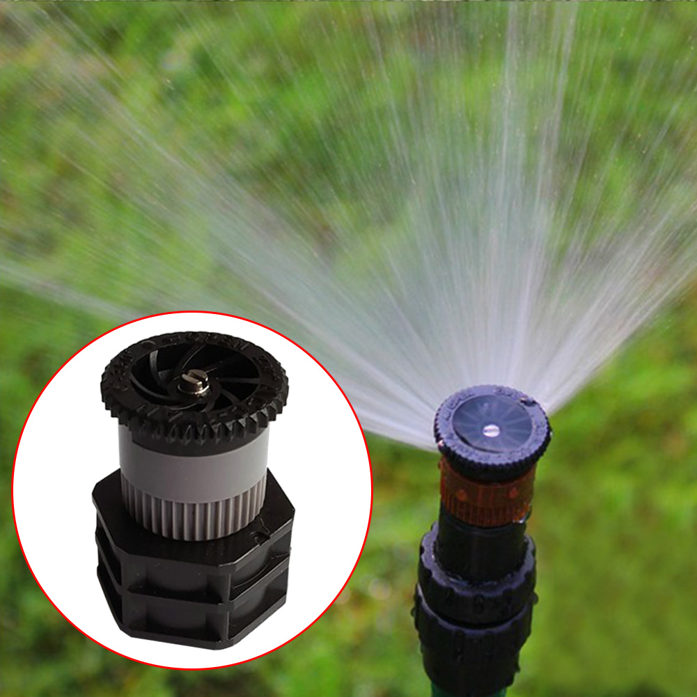 1/2 Inch Female Garden Irrigation Water Spray Rotating Nozzle Lawn ABS With Screen Filter Thread Misting Sprinkler For Vegetable
