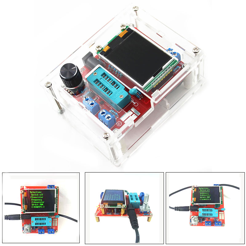 Multifunktionale Tester GM328 Transistor Tester Diode Kapazität ESR Meter PWM Platz Welle Signal Generator mit Fall DIY Kits