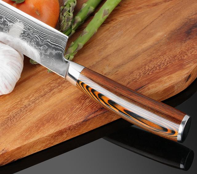 4pcs Hand Forged Damascus Knife set