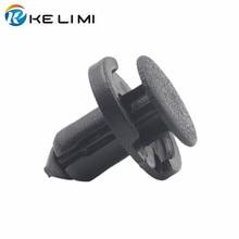 цена на KE LI MI 100x Auto Front & Rear Bumper hood Fender Splash Guard Panels Retainer Clip Fastener Plastic Push-Type Rivet for Honda