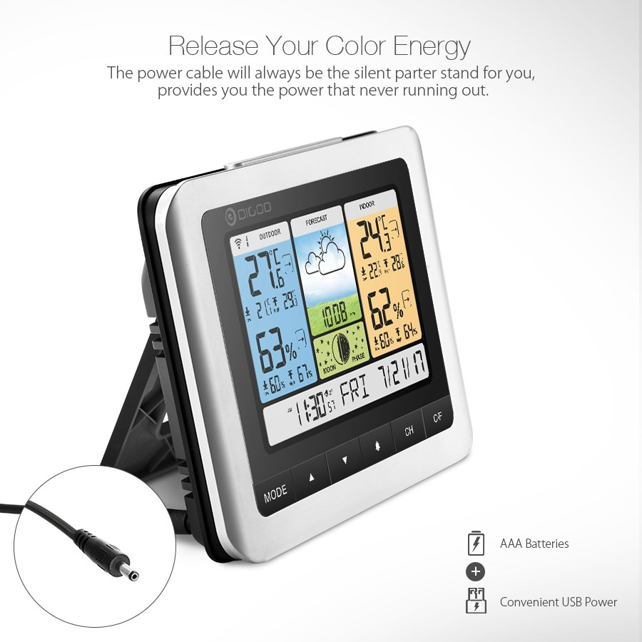 Digoo termômetro higrômetro DG-TH8888 pro sensor sem