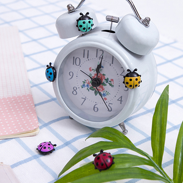 6Pcs Lovely Ladybug fridge magnets home decor decorative refrigerator Magnetic sticker Room Decoration Message paper Fixed paste 2