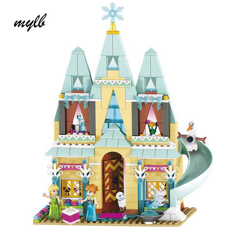 mylb Snow Queen Princess Anna Elsa Building Blocks Arendelle Castle Celebration Compatible with Friend Building jg303 building blocks arendelle castle princess anna elsa buildable snow queen figures sy371 with blocks kids toys gift page 8
