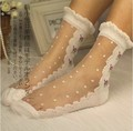 Princess sweet lolita gothic lolita socks Lace rose ultra-thin glass transparent crystal socks Summer short socks DW2-2