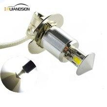 1 pezzo 12 W H3 LED 4SMD CRE'EXQ-D di Luce delle Lampadine Per Auto Della Luce di Nebbia Della Lampada Della Lampadina 12 V 24 V Bianco 6000 K