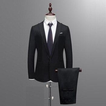8583221fd0a6e Resmi kostüm homme mariage erkek takım elbise pantolon ile terno masculino erkek  takım elbise slim fit blazer ceket + pantolon d90509