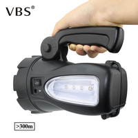 Portable Spotlight LED Flashlight 3W LED Bead Searchlight Rechargeable Waterproof Outdoor Torch Work Light Camping Lanterns