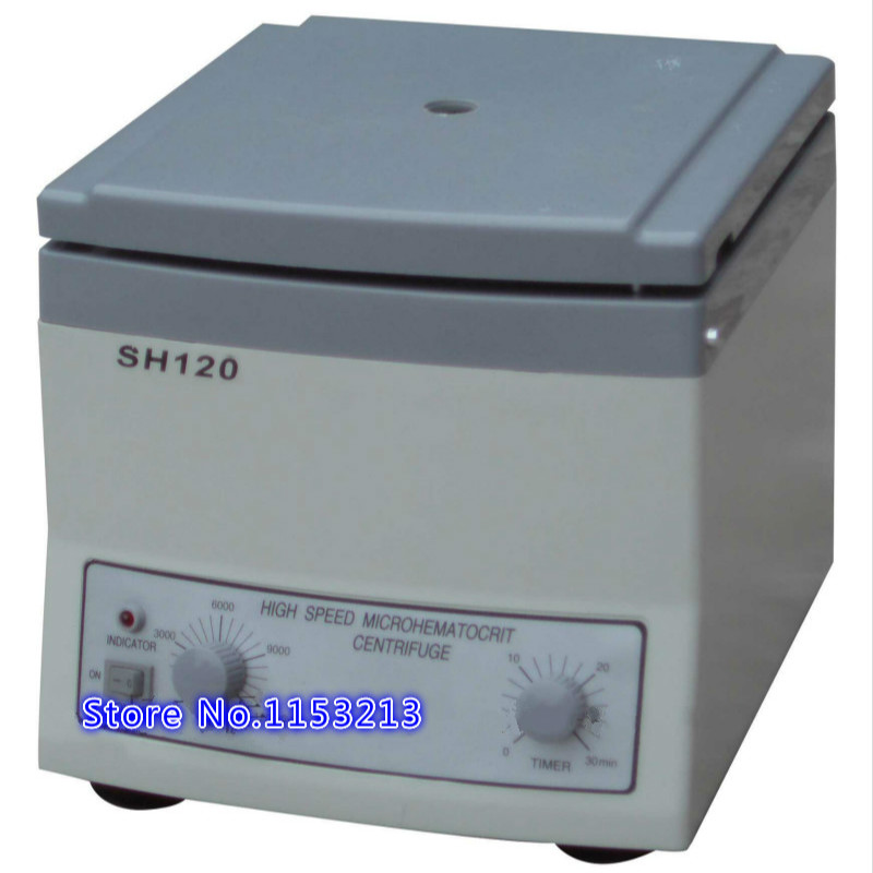 SH120 Hight speed microhematocrit centrifuge laboratory Clinical PRP treatment Trace blood centrifuge for 24 placer capillaries prf centrifuge platelet rich fibrin centrifuge blood prf for detistry maxillofacial surgery orthopedics plastic surgery