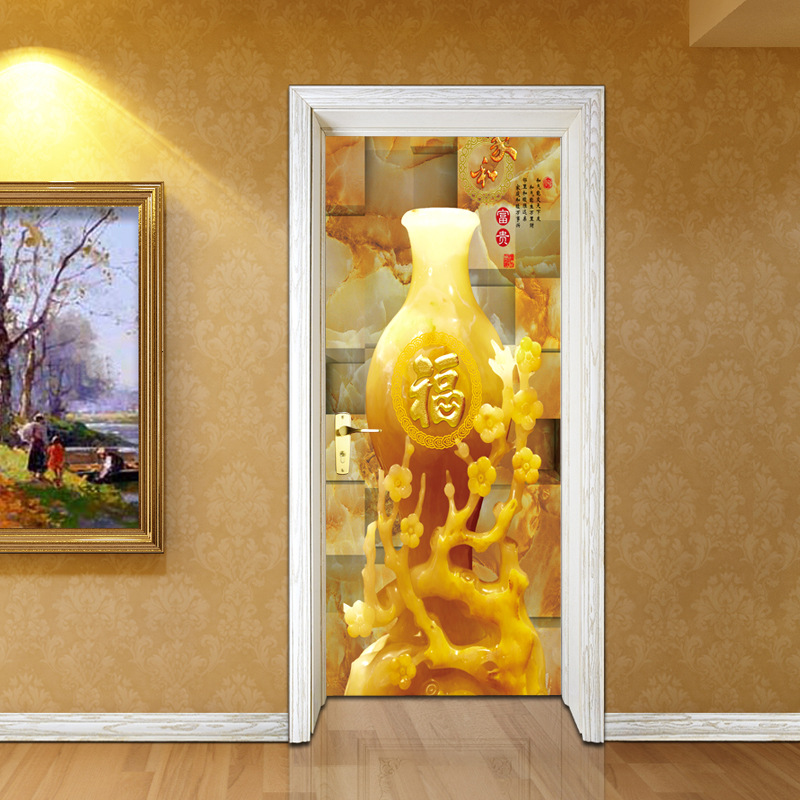 3D DIY Vivid Chinese New Year Decorations FU Word Wall Mural Door ...