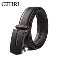CETIRI Men Belts Fashion Men S Cow Genuine Leather Belt Strap Outdoor Automatic Buckle Western Hip