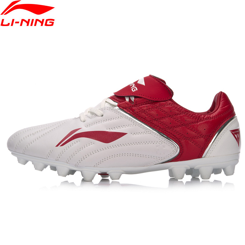 Li Ning Men TIE SERIES CATTLEHIDE Soccer Shoes Anti Slippery Wearable AG LiNing Sport Shoes Comfort