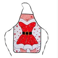 Funny Novelty Gift Christmas Apron Family Kitchen Cooking Baking BBQ Chef Apron Sexy Women Adult Apron