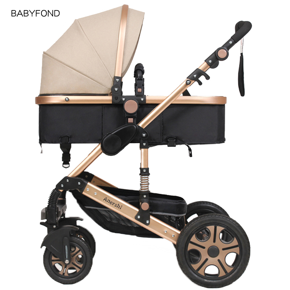 2018 Promotion Stroller Baby Carriage Baby Stroller Light Folding Shock Absorbers Bb Car Trolley Aluminium Rubber Wheels baby stroller baby stroller shock absorbers light folding stroller 4runner